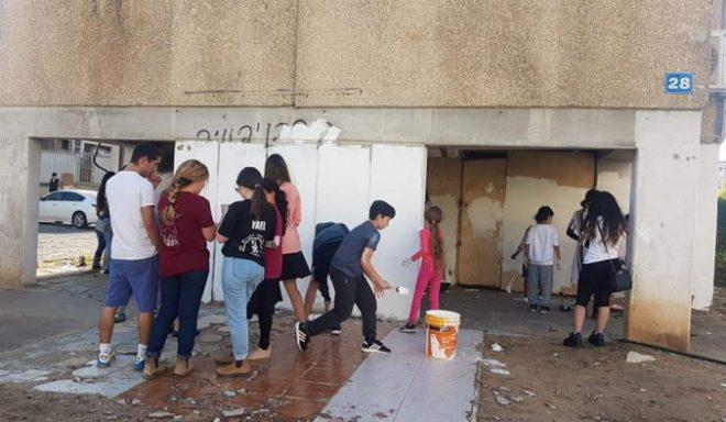 ילדים מאשדוד מנקים בית ספר