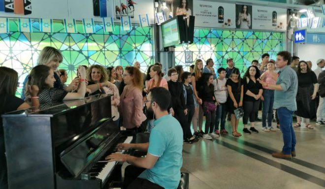 הפתעה לנוסעי תחנת רכבת אשדוד - פסים מוסיקאליים