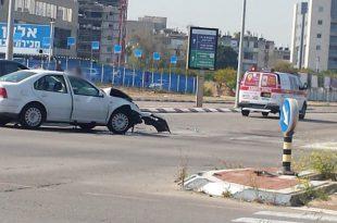 תאונה רבת פצועים בין שני רכבים