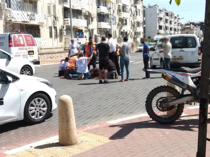 רוכב קורקינט נדרס על ידי רכב פרטי