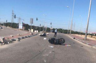 רוכב האופנוע שנפצע בשבת בתאונה ליד הנמל, נפטר מפצעיו