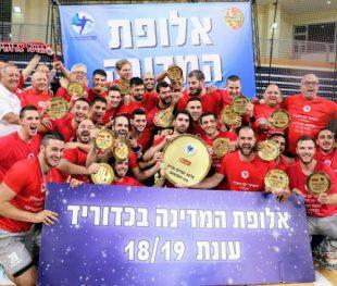 קבוצת הכדוריד של הפועל אשדוד אלופת המדינה