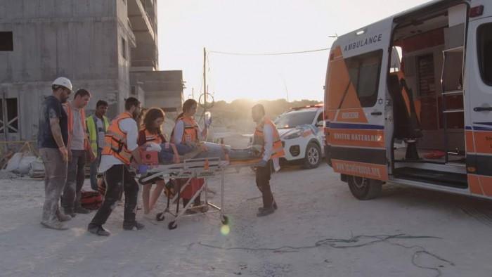 פועל שנפל ממשאית נפצע בינוני