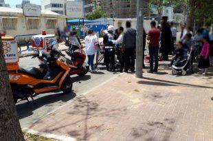 ילד כבן 10 נפגע בתאונת דרכים