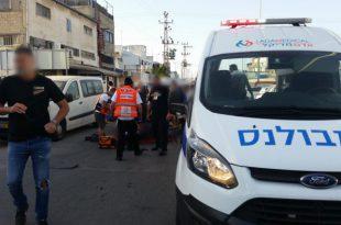 רוכב קטנוע נפגע בתאונה באזור התעשיה בעיר